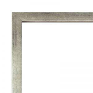 Глубокая серебряная деревянная рама